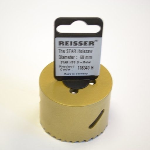 Reisser HSS Bi-Metal Holesaw, 60 mm Image 1