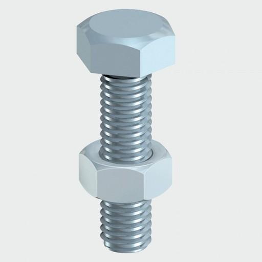 Hex Bolt & Nut, 12x70 mm, 2 pk Image 1