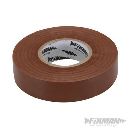Insulation Tape, Brown, 19 mm x 33 m Image 1