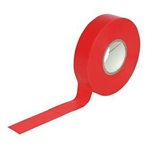 Insulation Tape, Red, 19 mm, 33 m Image 1