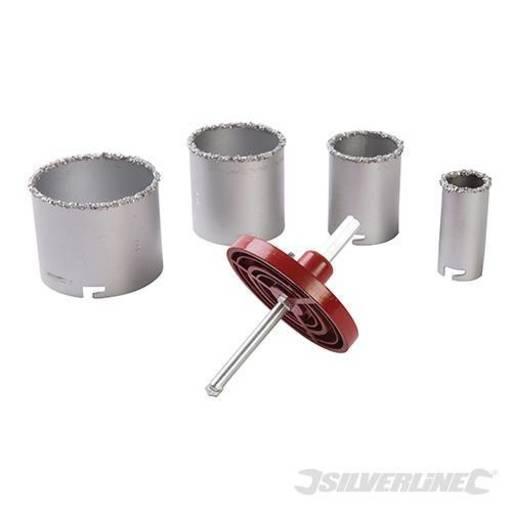 Tungsten Carbide Grit Holesaw Set, 6 pcs Image 1