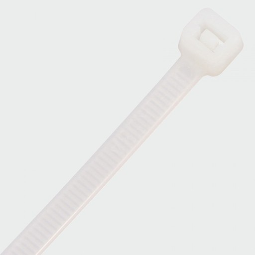 Cable Ties Natural, 4.5x300 mm, 100 pk Image 1