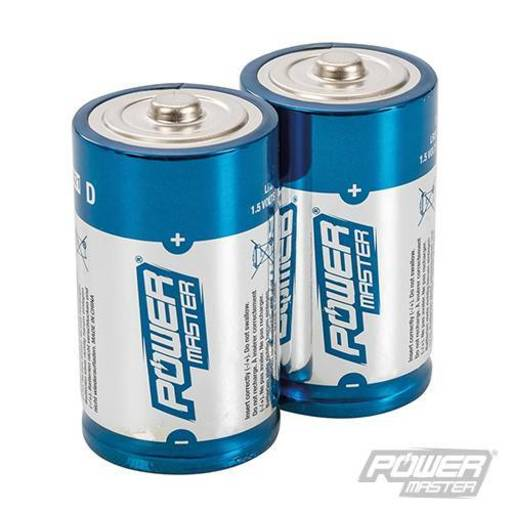 Powermaster  D-Type Super Alkaline Battery LR20 2pk Image 1
