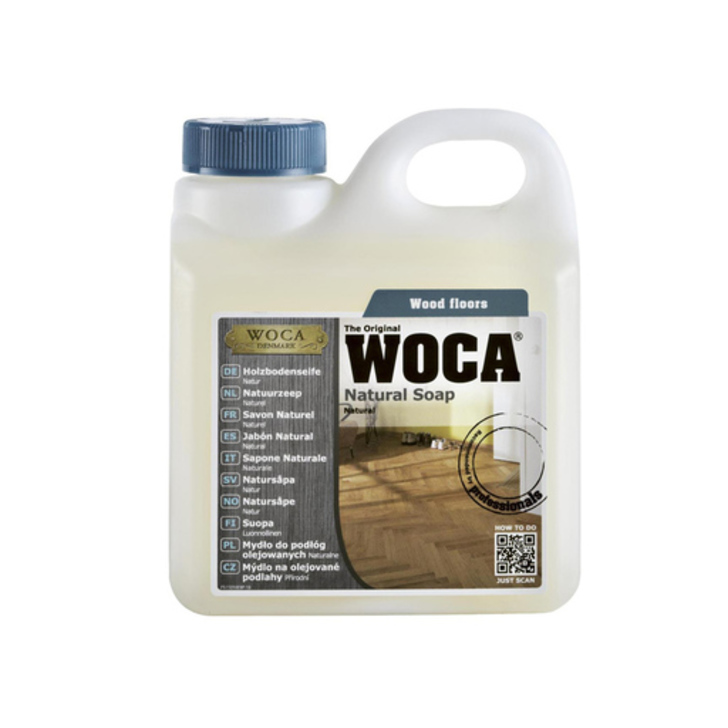 WOCA Natural Soap For Oiled Wood Floor, 1L Image 1