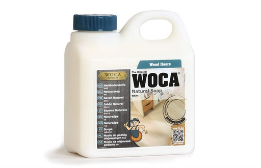 WOCA Natural Soap For Oiled Wood Floor, White, 1L Image 1