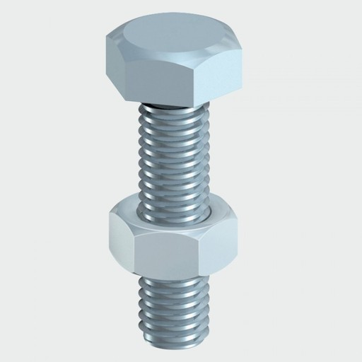 Hex Bolt & Nut, 6x50 mm, 4 pk Image 1