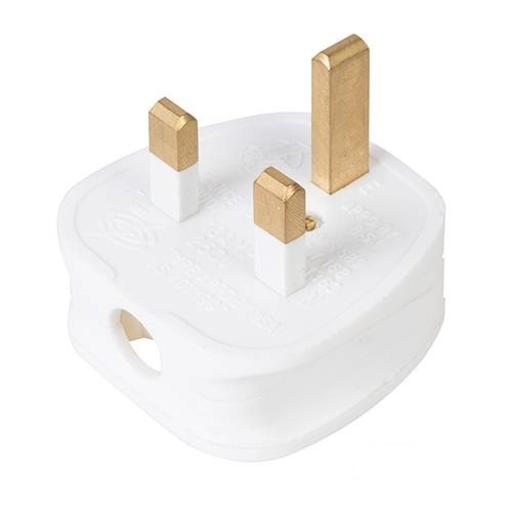 Fused Plug, 13A, White Image 1