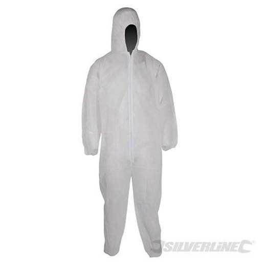 Disposable Overall, White, Size L Image 1
