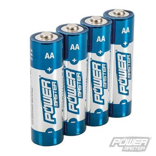 Powermaster AA Super Alkaline Battery LR6 4pk Image 1