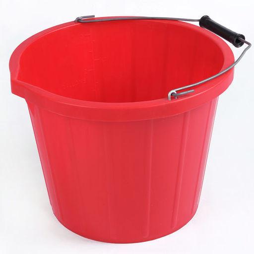Plastic Bucket, Red, 5 L Image 1