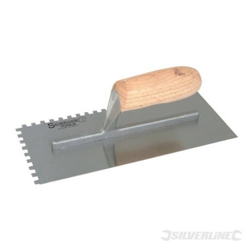 Silverline Adhesive Trowel, 280 x120 mm, 6 mm Notch Image 1