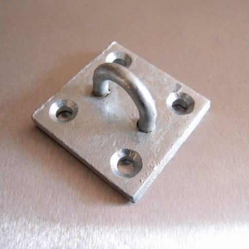 Staple On Plate, 50x50 mm, Galvanised Image 1