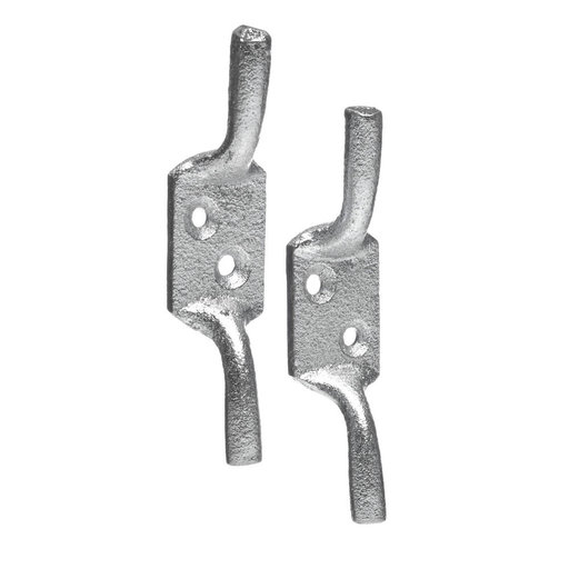 Cleat Hook, 100 mm, Zinc Plated Image 1