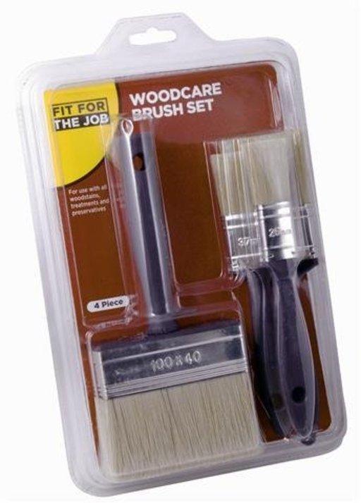 Woodcare Brush Set (4 pcs) Image 1