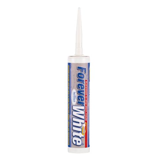 Everbuild Forever White Sanitary Silicon Sealant, 295 ml Image 1
