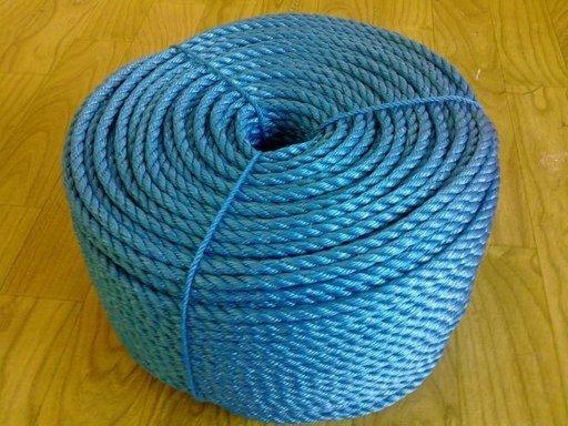 Stranded Polypropylene Rope, 6 mm, Blue, 20 m Image 1