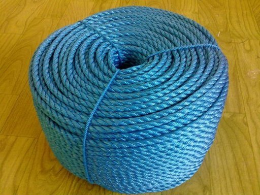 Stranded Polypropylene Rope, 8 mm, Blue, 15 m Image 1