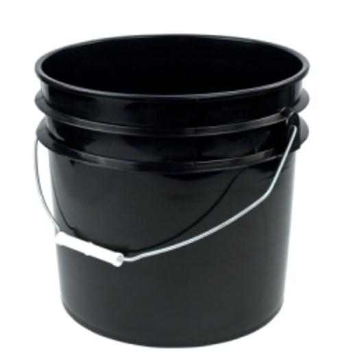 3 Gallon Black Plastic Bucket Image 1
