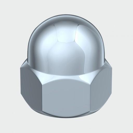 Hex Dome Nut BZP, M6, 200 pk Image 1