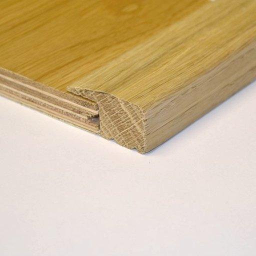 Unfinished Solid Oak L-Shaped Threshold, 40x20 mm, 2.4 m Image 1