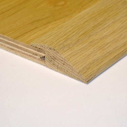 Unfinished Solid Oak Reducer Threshold, 65x15 mm, 2.4 m Image 1