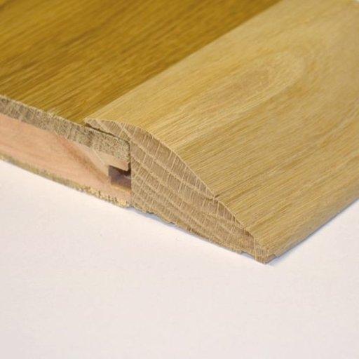 Unfinished Solid Oak Reducer Threshold, 65x20 mm, 2.4 m Image 2