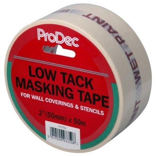 Low Tack Masking Tape, 50 mm, 50 m Image 1