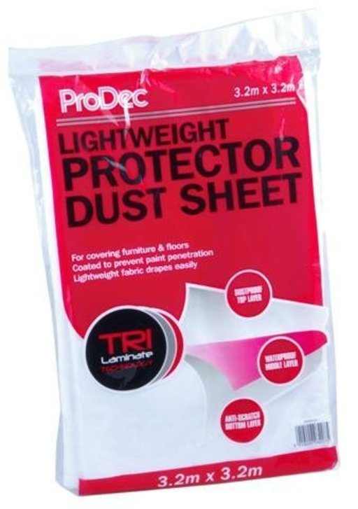 Non Woven Dust Sheet, 3.2 x 3.2 m Image 1