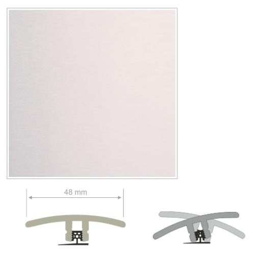 HDF Unistar White Threshold For Laminate Floors,  90 cm Image 2