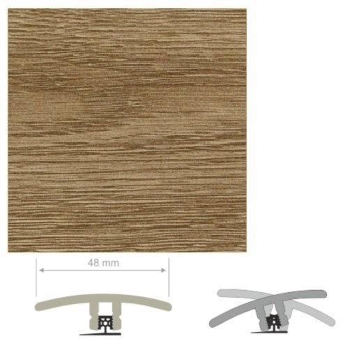 HDF Unistar Dark Oak Threshold For Laminate Floors,  90 cm Image 1