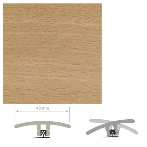 HDF Unistar Enhanced Beech Threshold For Laminate Floors,  90 cm Image 1