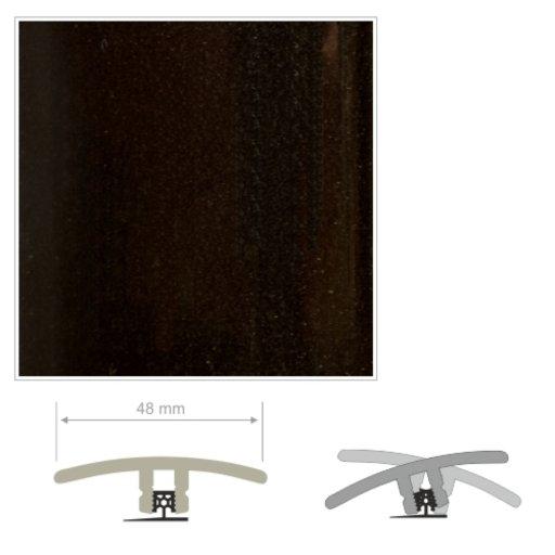 HDF Unistar Black Threshold For Laminate Floors,  90 cm Image 2