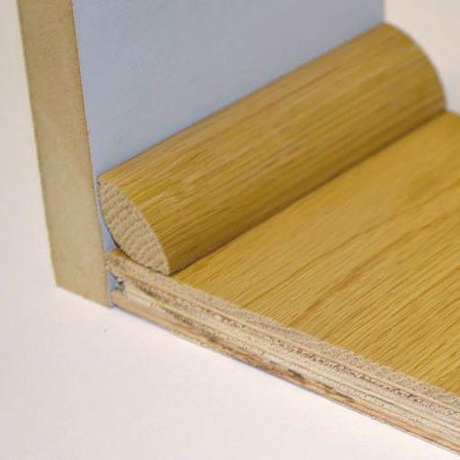 Unfinished Solid Oak Quadrant Beading, 19x19 mm, 1.8 m Image 2