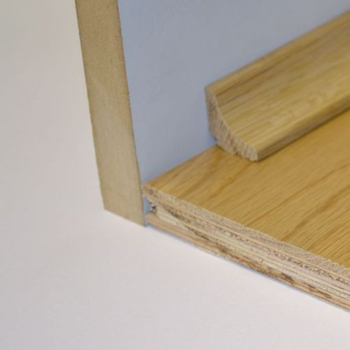 Unfinished Solid Oak Scotia Beading, 19x19 mm, 1.8 m Image 2