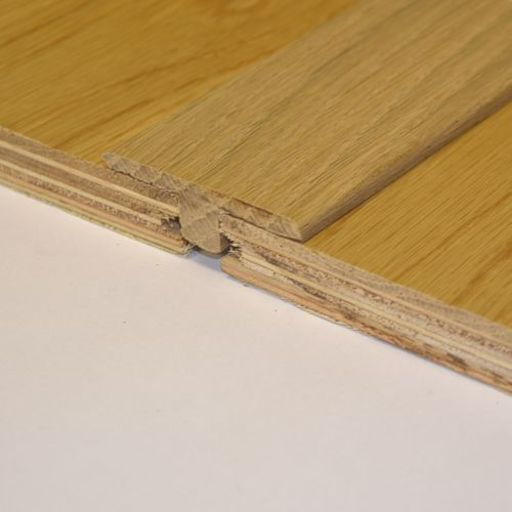 Solid Oak T-Shaped Threshold, Lacquered, 90 cm Image 1