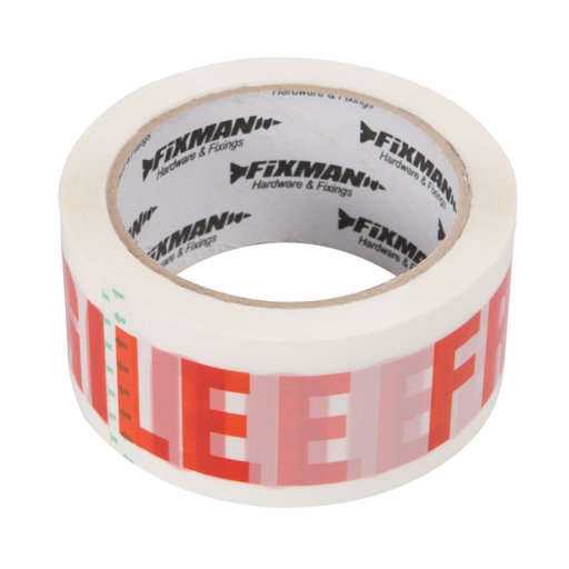 Packing Tape - Fragile, 48 mm, 66 m