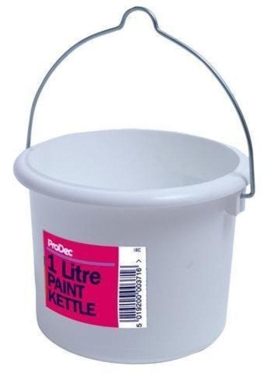 Plastic Paint Can with Lid, 1L