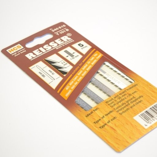 Reisser Jigsaw Blades, T101B, pack of 5