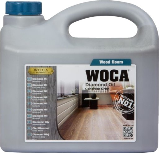 WOCA Diamond Oil, Concrete Grey, 2.5L