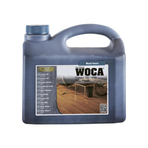 WOCA Colour Oil 120, Black, 2.5L
