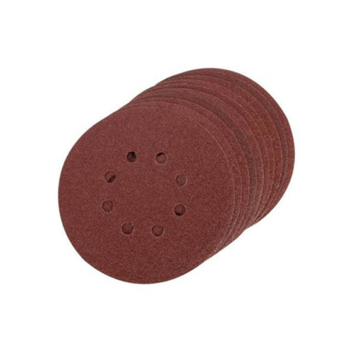 Silverline Single Sided Sanding Disc, 80G ,150 mm, Velcro