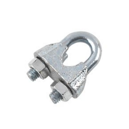 Wire Rope Grips, 3 mm, Zinc Plated