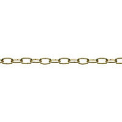 Decorative Chain, 2 mm, Steel Brass Plated, 2 m