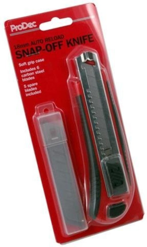 Duragrip Auto Load Snap Off Utility Knife, 18 mm