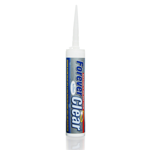 Everbuild Forever Clear Sanitary Silicone Sealant, 295 ml