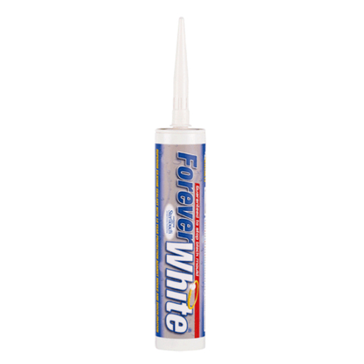 Everbuild Forever White Sanitary Silicon Sealant, 295 ml