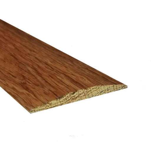 Solid Oak Flat Threshold Strip, Walnut Stained, Lacquered, 0.9 m