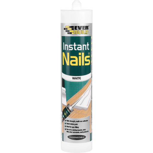 Everbuild Instant Nails, White