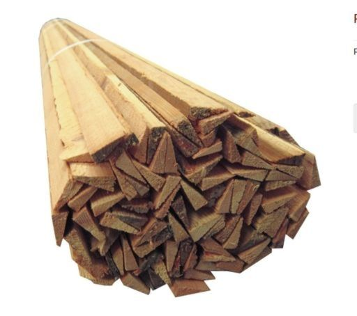 Reclaimed Pine Wood Slivers Strips, 50 pcs, 7-10 mm