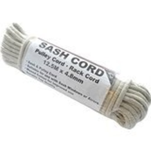 Sash Cord Cotton, No.4, 6 mm, Waxed, 12.5 m